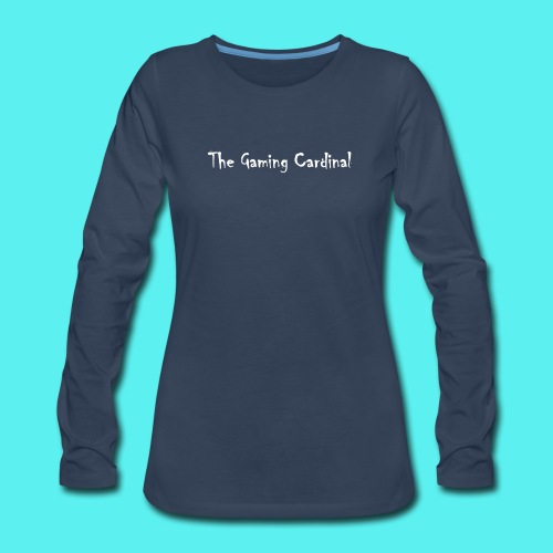 white logo text - Women's Premium Long Sleeve T-Shirt