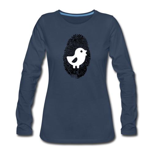 Chick Finger Print - Women's Premium Long Sleeve T-Shirt