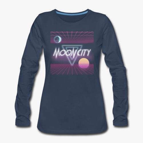 Moon City Retrogrid - Women's Premium Long Sleeve T-Shirt