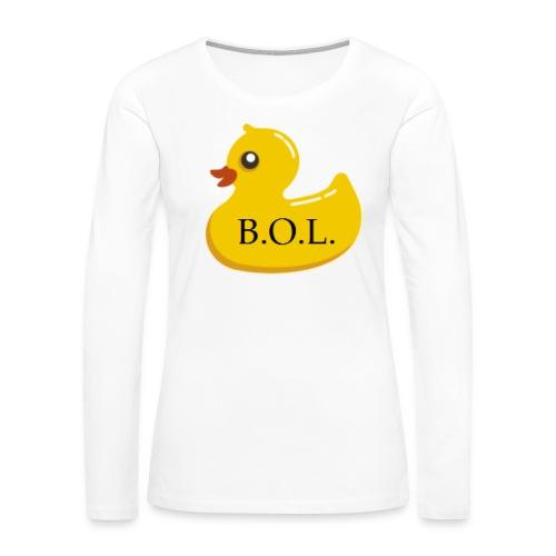 Official B.O.L. Ducky Duck Logo - Women's Premium Long Sleeve T-Shirt