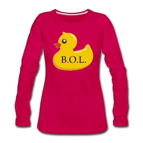 Official B.O.L. Ducky Duck Logo - Women's Premium Long Sleeve T-Shirt