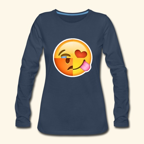E Tees , Unique , Love , Cry, angry - Women's Premium Slim Fit Long Sleeve T-Shirt