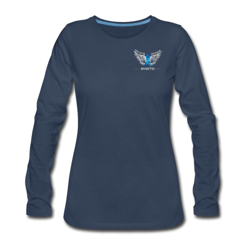 Diabetes - Strength and Courage - Women's Premium Slim Fit Long Sleeve T-Shirt