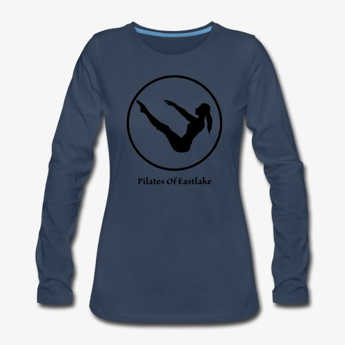 Pilates Of Eastlake Logo - Women's Premium Slim Fit Long Sleeve T-Shirt