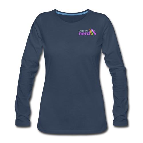 Sales Tax Nerd - Women's Premium Slim Fit Long Sleeve T-Shirt