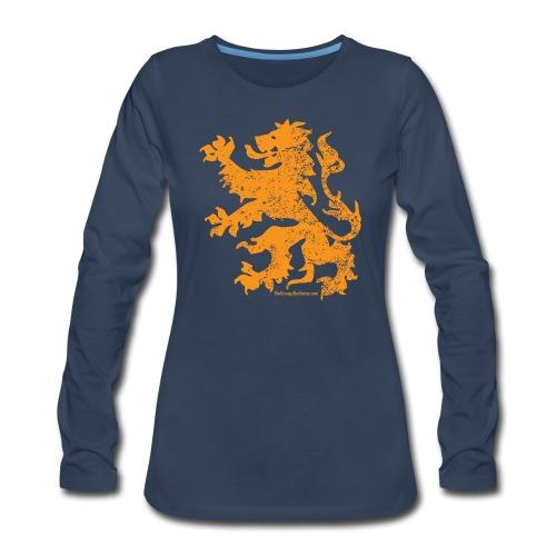 Dutch Lion - Women's Premium Slim Fit Long Sleeve T-Shirt
