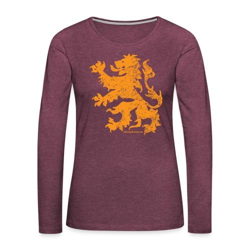 Dutch Lion - Women's Premium Long Sleeve T-Shirt