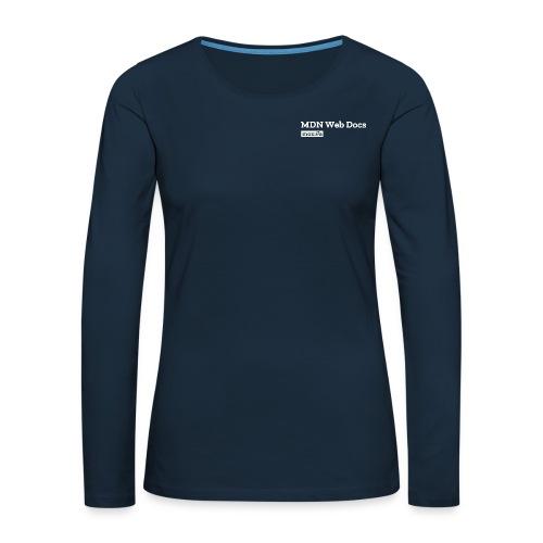 MDN Web Docs - Women's Premium Slim Fit Long Sleeve T-Shirt