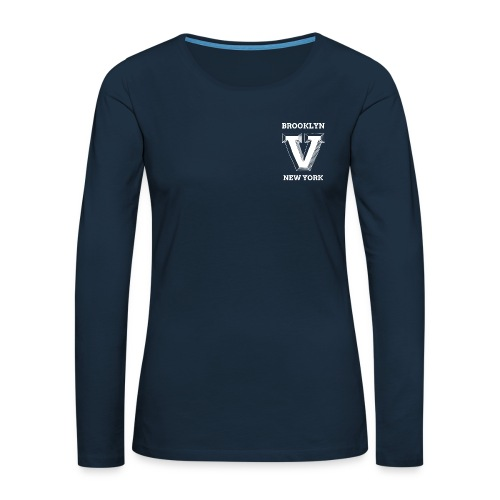 pocket - Women's Premium Slim Fit Long Sleeve T-Shirt