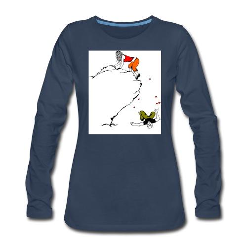Lady Climber - Women's Premium Slim Fit Long Sleeve T-Shirt