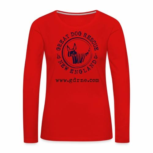 GDRNE Logo - Women's Premium Slim Fit Long Sleeve T-Shirt