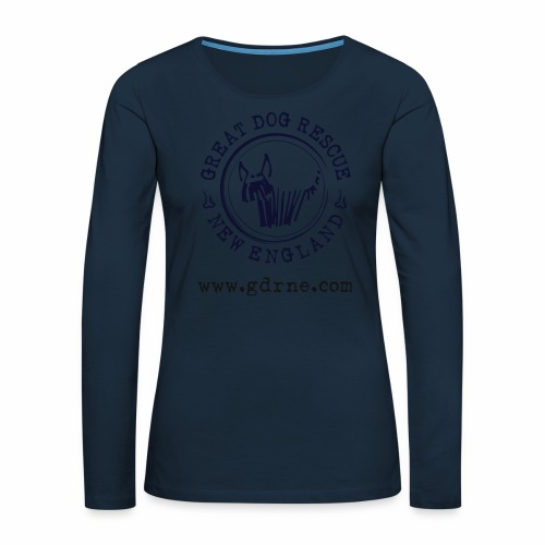 GDRNE Logo - Women's Premium Slim Fit Long Sleeve T-Shirt