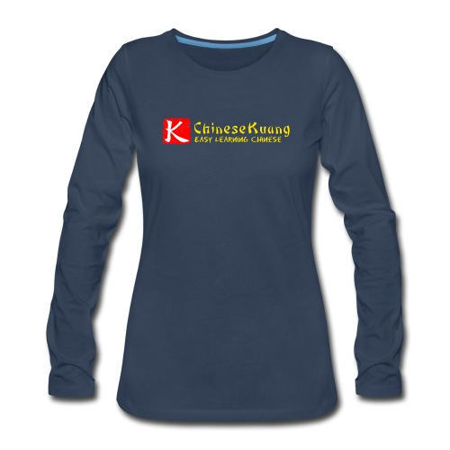 ChineseKuang Logo - Yellow - Women's Premium Long Sleeve T-Shirt
