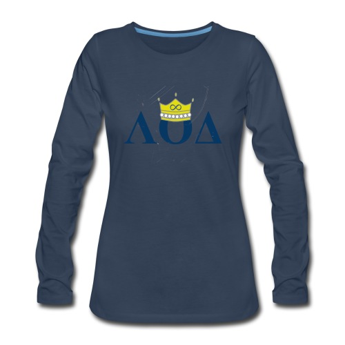 Crown Letters - Women's Premium Long Sleeve T-Shirt