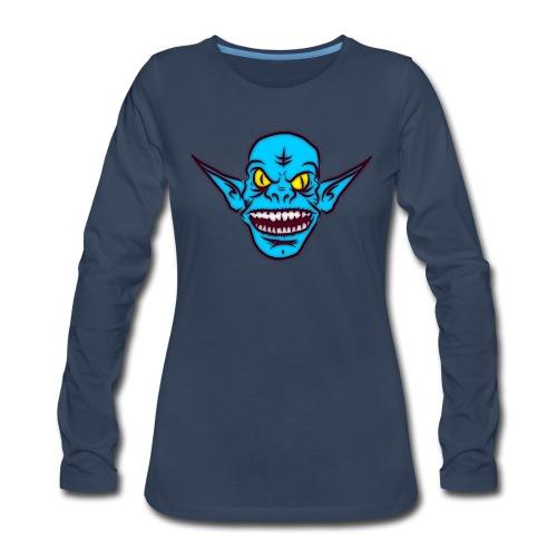Troll - Women's Premium Slim Fit Long Sleeve T-Shirt