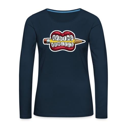 Raging Pencils Bargain Basement logo t-shirt - Women's Premium Slim Fit Long Sleeve T-Shirt