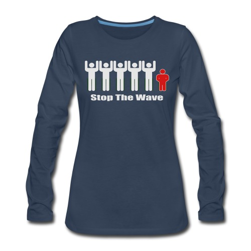 Men's Stop The Wave Logo T-Shirt - Women's Premium Long Sleeve T-Shirt