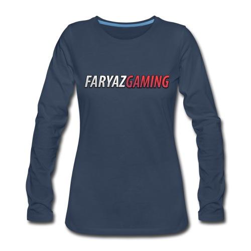 FaryazGaming Text - Women's Premium Long Sleeve T-Shirt