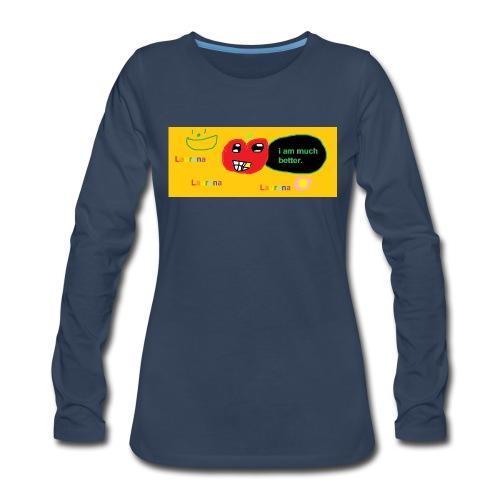 pechy vs apple - Women's Premium Long Sleeve T-Shirt