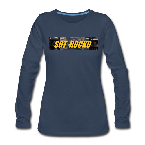 RockoWear Banner - Women's Premium Long Sleeve T-Shirt