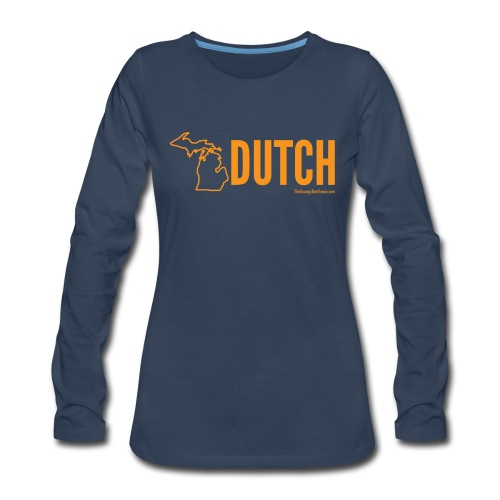 Michigan Dutch (orange) - Women's Premium Slim Fit Long Sleeve T-Shirt