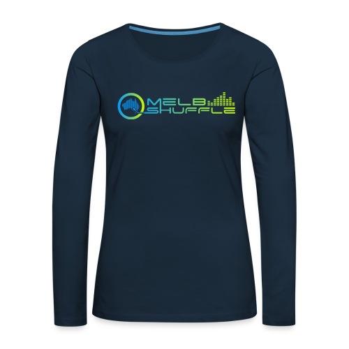 Melbshuffle Gradient Logo - Women's Premium Slim Fit Long Sleeve T-Shirt