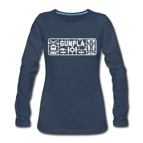 Gunpla 101 Men's T-shirt — Zeta Blue - Women's Premium Slim Fit Long Sleeve T-Shirt