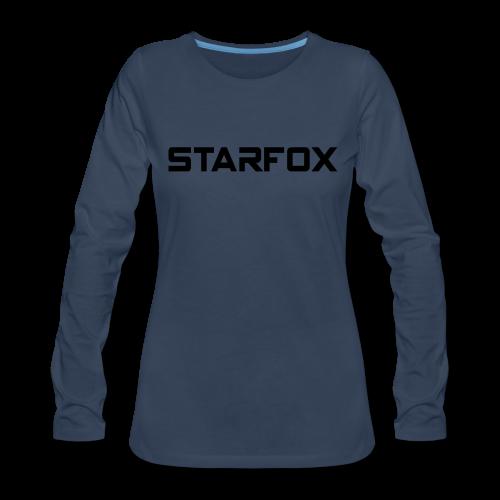 STARFOX Text - Women's Premium Long Sleeve T-Shirt