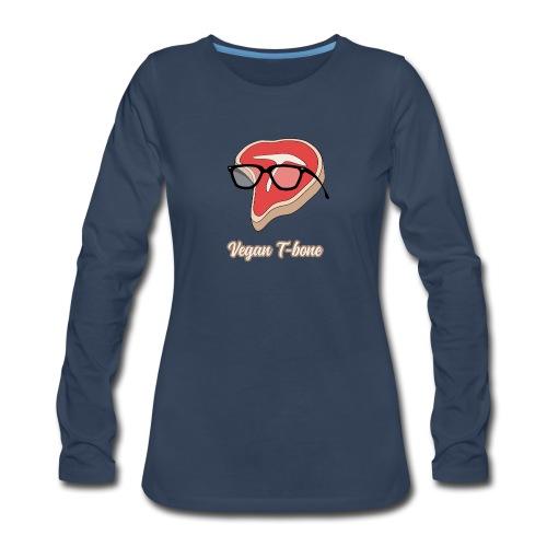Vegan T bone - Women's Premium Long Sleeve T-Shirt