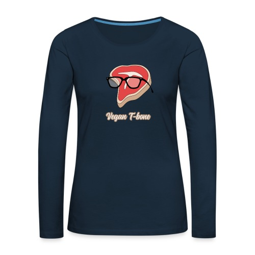 Vegan T bone - Women's Premium Slim Fit Long Sleeve T-Shirt