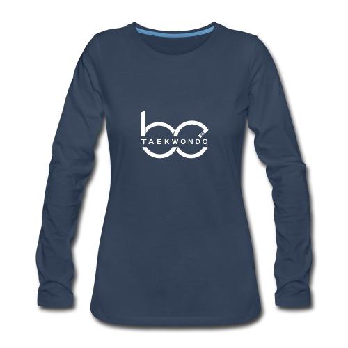 Logo emblem WHITE no bg - Women's Premium Long Sleeve T-Shirt