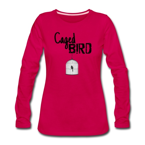 Caged Bird Abstract Design - Women's Premium Long Sleeve T-Shirt