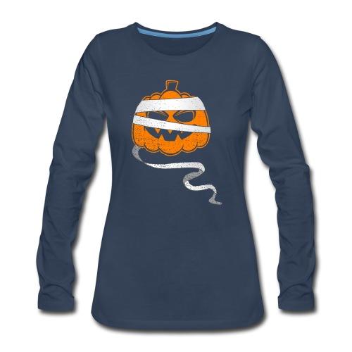 Halloween Bandaged Pumpkin - Women's Premium Long Sleeve T-Shirt
