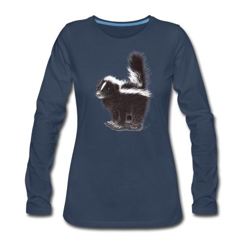 Cool cute funny Skunk - Women's Premium Slim Fit Long Sleeve T-Shirt