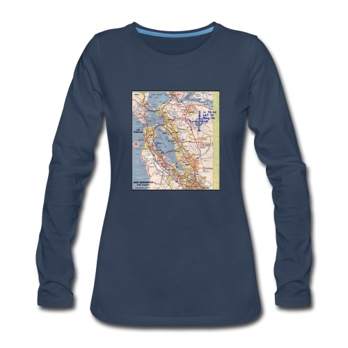 Phillips 66 Zodiac Killer Map June 26 - Women's Premium Long Sleeve T-Shirt