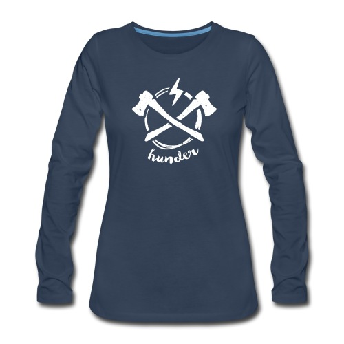 woodchipper back - Women's Premium Long Sleeve T-Shirt