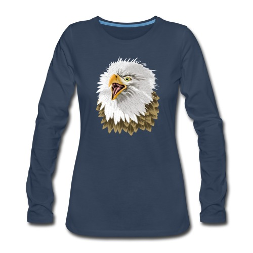 Big, Bold Eagle - Women's Premium Slim Fit Long Sleeve T-Shirt