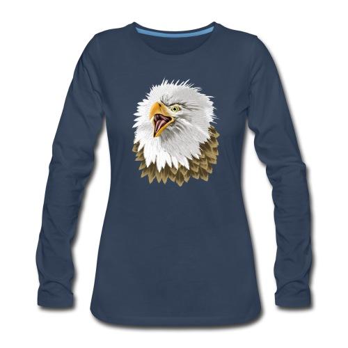 Big, Bold Eagle - Women's Premium Slim Fit Long Sleeve T-Shirt