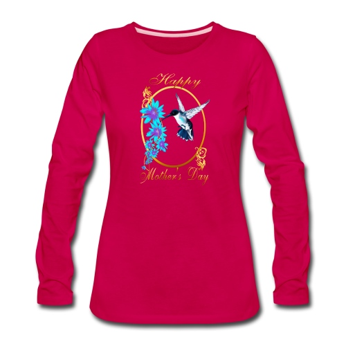 Mother's Day with humming birds - Women's Premium Long Sleeve T-Shirt