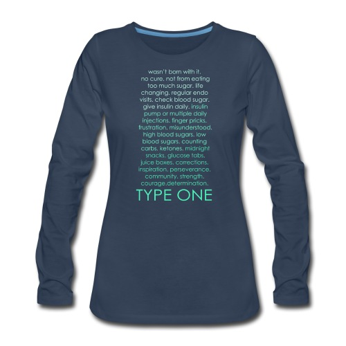 The Inspire Collection - Type One - Green - Women's Premium Long Sleeve T-Shirt