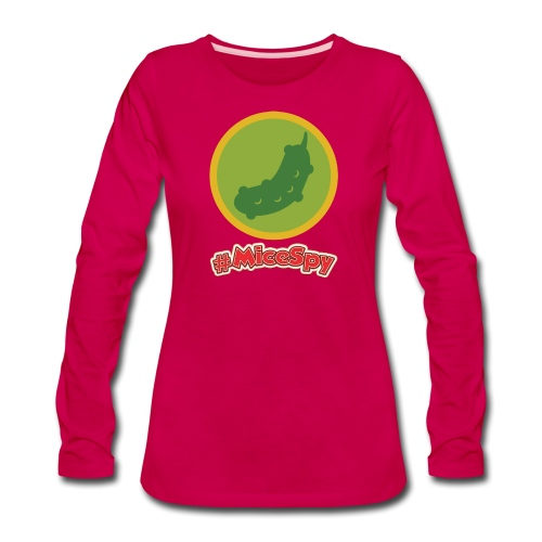 Carnation Cafe Explorer Badge - Women's Premium Long Sleeve T-Shirt