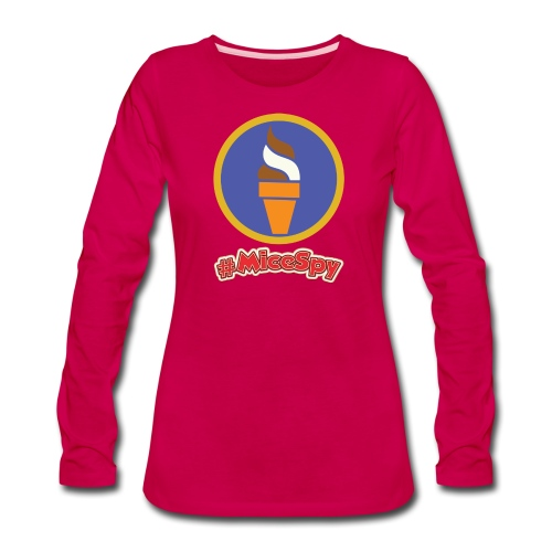 Boardwalk Ice Cream Swirl Explorer Badge - Women's Premium Long Sleeve T-Shirt