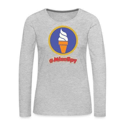 Boardwalk Ice Cream Vanilla Explorer Badge - Women's Premium Long Sleeve T-Shirt