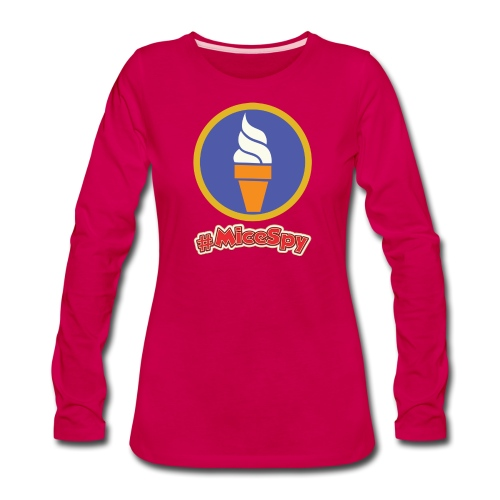 Boardwalk Ice Cream Vanilla Explorer Badge - Women's Premium Long Sleeve T-Shirt