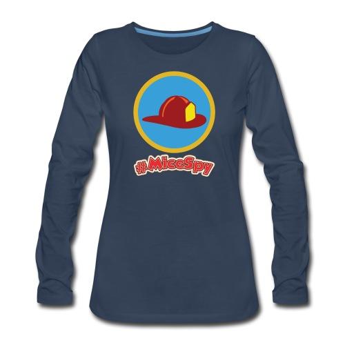 Main Street Fire House Explorer Badge - Women's Premium Long Sleeve T-Shirt