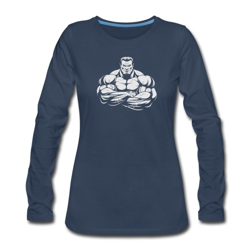 An Angry Bodybuilding Coach - Women's Premium Long Sleeve T-Shirt