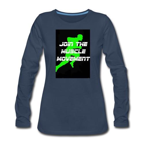 muscle movement - Women's Premium Long Sleeve T-Shirt