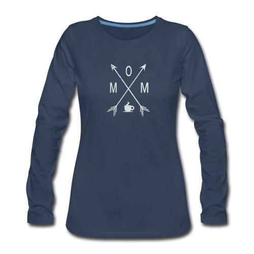 Mom Loves Coffee - Women's Premium Slim Fit Long Sleeve T-Shirt