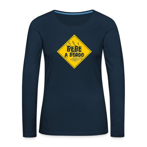 BABY ON BOARD - Women's Premium Slim Fit Long Sleeve T-Shirt