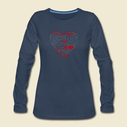 108-lSa Inspi-Shirt-85.b ... for OM-Love Play - Women's Premium Slim Fit Long Sleeve T-Shirt